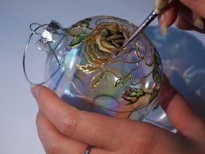 Видеоурок: рисуем нежную розу витражными красками. Ярмарка Мастеров - ручная работа, handmade.