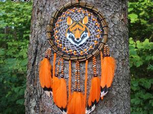 Ловец снов  «Кицунэ» , 50 см. Ярмарка Мастеров - ручная работа, handmade.