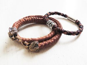 Как сделать браслет из плетеного кожаного шнура. Ярмарка Мастеров - ручная работа, handmade.