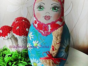 Текстильная Матрешка - Ромашка.. Ярмарка Мастеров - ручная работа, handmade.