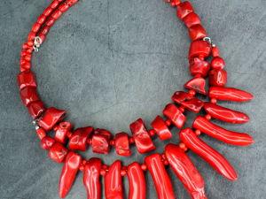 Обзор готовых украшений натуральные камни: красный коралл, серафинит, горный хрусталь. Ярмарка Мастеров - ручная работа, handmade.