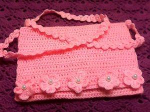Вяжем крючком сумочку для девочки. Ярмарка Мастеров - ручная работа, handmade.