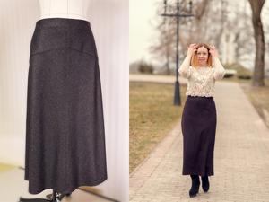 Шьем длинную юбку, выкроенную по косой. С кокеткой и на подкладке. Ярмарка Мастеров - ручная работа, handmade.