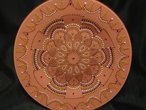 Точечная роспись декоративной тарелки: пошаговый мастер-класс. Ярмарка Мастеров - ручная работа, handmade.