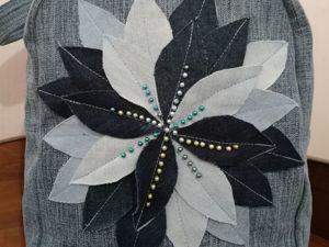 Розыгрыш рюкзака  «Хризантема»  от магазина Olkha (джинсовые рюкзаки/сумки). Ярмарка Мастеров - ручная работа, handmade.