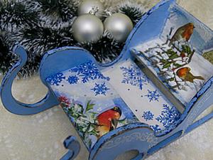 Новогодние Сани для интерьера или праздничного стола. Ярмарка Мастеров - ручная работа, handmade.