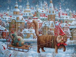 Новогодние гобеленовые ткани от Е. Шишкина. Ярмарка Мастеров - ручная работа, handmade.
