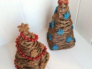 Новогодняя елка из ниток своими руками. Ярмарка Мастеров - ручная работа, handmade.