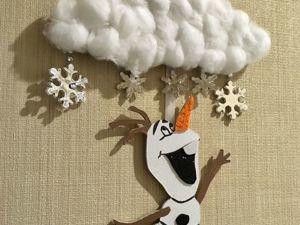Как сделать новогоднюю подвеску на стену «Олаф» своими руками. Ярмарка Мастеров - ручная работа, handmade.