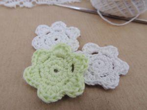 Вяжем небольшой цветок за 7 минут. Ярмарка Мастеров - ручная работа, handmade.