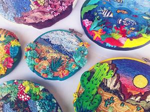 Natural Diversity: Contemporary Embroidery by Helene Kardos. Livemaster - handmade