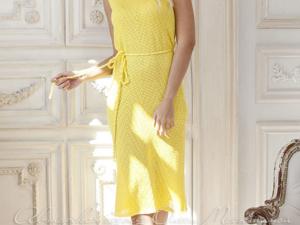 Аукцион на Ажурное вязаное платье! Старт 2000 руб.!. Ярмарка Мастеров - ручная работа, handmade.