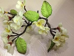Sakura Branch for Jewelry or Decor with Your Own Hands. Livemaster - handmade