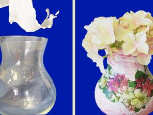 Делаем декор прозрачной стеклянной вазы. Ярмарка Мастеров - ручная работа, handmade.