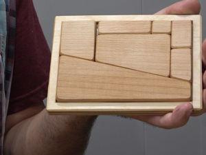 Мастерим геометрическую головоломку с исчезающим фрагментом. Ярмарка Мастеров - ручная работа, handmade.