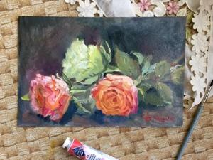 600 р в подарок! Картины цветов!. Ярмарка Мастеров - ручная работа, handmade.