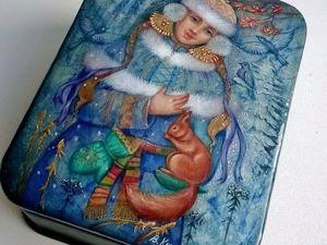 Украшаем шкатулку лаковой миниатюрой «Снегурочка». Ярмарка Мастеров - ручная работа, handmade.