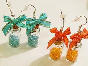 A 15 Minutes DIY Project on Making Earrings out of Tiny Jars. Livemaster - handmade