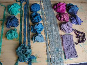 Экспериментальное окрашивание тканей с помощью подручных средств. Ярмарка Мастеров - ручная работа, handmade.