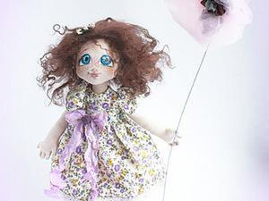 «Сиреневое счастье»: текстильная куколка — от выкройки до наряда. Часть 1. Ярмарка Мастеров - ручная работа, handmade.