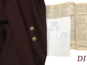 Шью пальто на весну: часть 1 — раскрой. Ярмарка Мастеров - ручная работа, handmade.