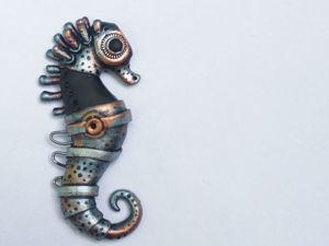 Лепим морского конька в стилистике биомеханика. Ярмарка Мастеров - ручная работа, handmade.