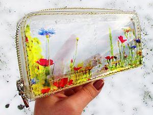 Создаем эксклюзивный прозрачный кошелек из эпоксидной смолы. Ярмарка Мастеров - ручная работа, handmade.