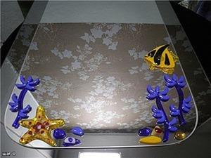 Украшение зеркал декором из плавленного стекла. Ярмарка Мастеров - ручная работа, handmade.