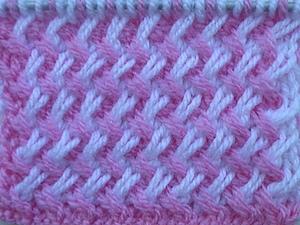 Двухцветный узор из наклонных петель (видео). Ярмарка Мастеров - ручная работа, handmade.