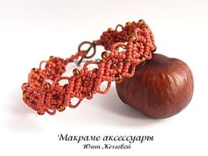 МК  макраме Плетем браслет с бисером. Ярмарка Мастеров - ручная работа, handmade.