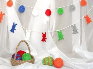 Создаем гирлянду из пасхальных зайчиков. Ярмарка Мастеров - ручная работа, handmade.