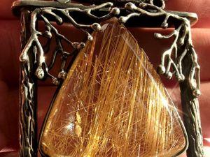 Видео кулона «Kodama» кварц-волосатик в авторской,серебряной оправе.Ручная работа. Ярмарка Мастеров - ручная работа, handmade.
