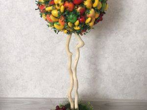 Making Decorative Arrangement of Artificial Fruits. Livemaster - handmade