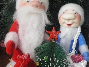 Дед Мороз и Снегурочка — поделка в детский сад. Часть 3: утяжка лица. Ярмарка Мастеров - ручная работа, handmade.