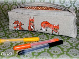 Создаем милый пенал с лисичками. Ярмарка Мастеров - ручная работа, handmade.