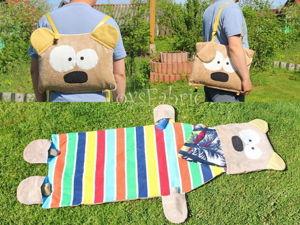 Шьем пляжную сумку-рюкзак с ковриком. Ярмарка Мастеров - ручная работа, handmade.