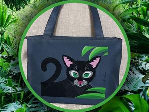 Изумрудные глаза в зелени джунглей. Ярмарка Мастеров - ручная работа, handmade.