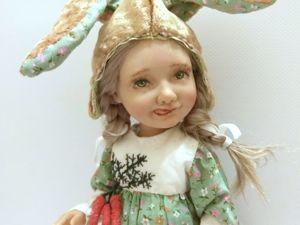 Шарнирная девочка Зайка. Ярмарка Мастеров - ручная работа, handmade.