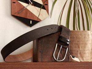 Стильная коллекция мужских коричневых ремней. Ярмарка Мастеров - ручная работа, handmade.