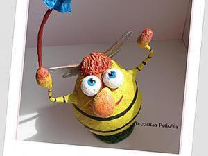 """Делаем позитивную игрушку """"ПЧЕЛкин"""" из папье-маше. Ярмарка Мастеров - ручная работа, handmade."""