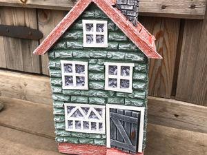 DIY Миниатюрный домик своими руками / Поделка из картона. Ярмарка Мастеров - ручная работа, handmade.