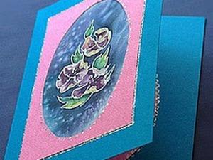 Мастерим открытку с шелком. Ярмарка Мастеров - ручная работа, handmade.