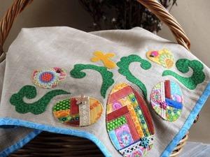 Шьем льняную салфетку «Пасхальная геометрия». Ярмарка Мастеров - ручная работа, handmade.