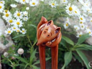 Шпилька  «Лисичка». Ярмарка Мастеров - ручная работа, handmade.