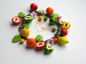 Joyful DIY Fruit Bracelet of Polymer Clay. Livemaster - handmade