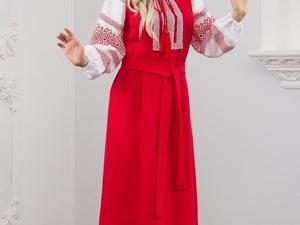 Платье Льняное Плодородие. Ярмарка Мастеров - ручная работа, handmade.