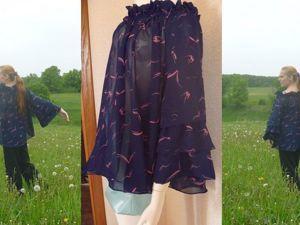 Шьем легкую шифоновую блузку «Морские чайки» для пышных форм. Ярмарка Мастеров - ручная работа, handmade.