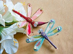 Guide on Making a Cute Dragonfly Brooch. Livemaster - handmade