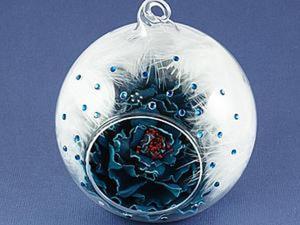 Создаем цветок из кожи в шарике. Ярмарка Мастеров - ручная работа, handmade.