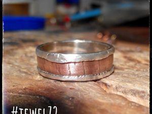 Процесс изготовления кольца «Симбиоз Металлов». Ярмарка Мастеров - ручная работа, handmade.